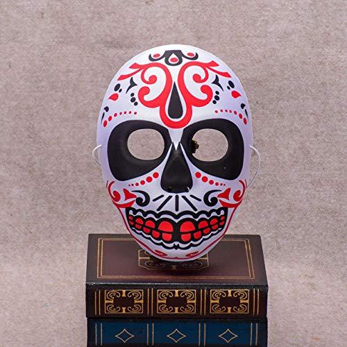 LLWGNZM Maske-Eva Halloween Schädel Maske bemalt Peking Opera Maske FullFace Party Erwachsene Kinder Terror wunderschöne Lieferungen Ghost Masquerade Day, MaskA