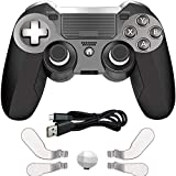 PS4 Elite Controller with Back Paddles,Heavy Dual Vibration Elite PS4 Wireless Custom Game Controller for Play Station 4 /PC with Speaker and 3.5mm Audio Headphone Jack
