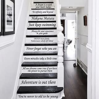 Letters Wall Decor Stickers Stair Decals Quotes Stairway Decals Quote Steps Vinyl Stickers Lettering Family Staircase Decal