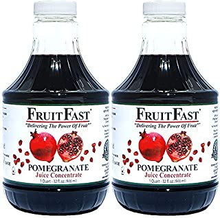 100% Pure Wonderful Pomegranate Juice Concentrate by FruitFast - Unsweetened, Non-GMO, Gluten and BPA Free, Kosher Certifi...