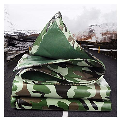 ALGFree Telone Camión Lona de Protección Casa Impermeable Impermeable Cobertizo Tela Espesar al Aire Libre Poncho, Personalizable (Color : Green, Size : 1.9x1.9m)
