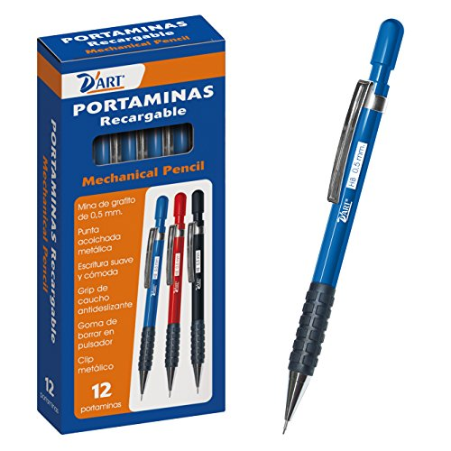 D'Art 79431 - Caja portaminas, 0.5 mm, 12 unidades, color azul