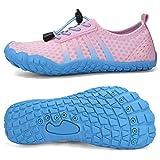 Boys & Girls Kids Water Shoes Lightweight Comfort Sole Easy Walking Athletic Slip on Aqua Sock(Toddler/Little Kid/Big Kid) U420WZ1904-Blue.pink-33