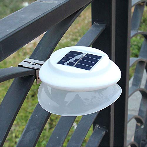 Luces solares para canalones, 9 luces LED para exteriores, resistentes al agua, para jardín, patio, entrada, escaleras, luz blanca, paquete de 4