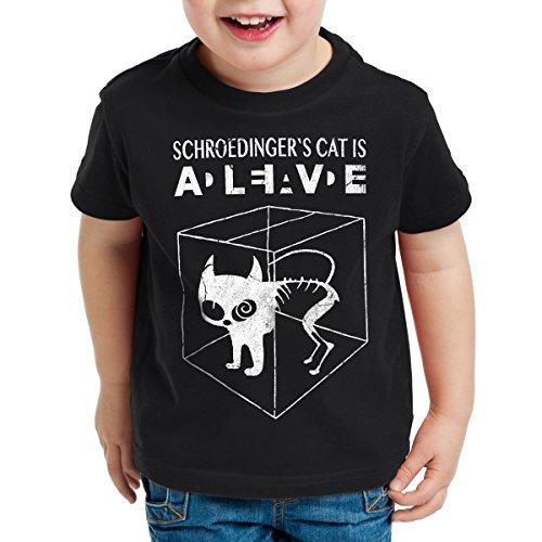 style3 Gato de Schrödinger Camiseta para Niños T-Shirt Sheldon