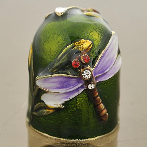 Great Features Of Russian Thimble Dragonfly Ð¡ollection, Colored Enamel