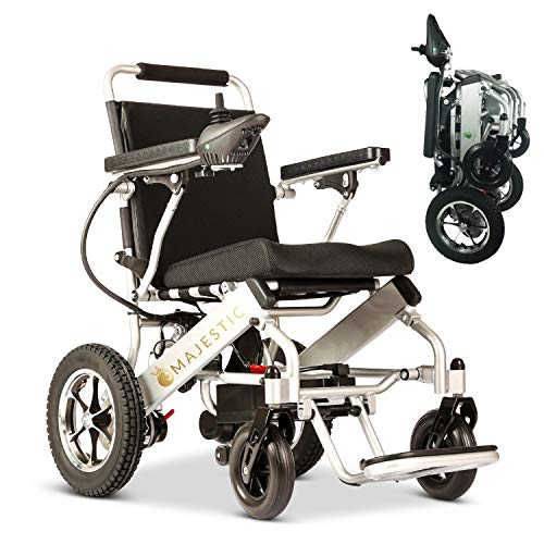 2020 New Folding Ultra Lightweight Electric Power Wheelchair, Silla de Ruedas Electrica, Airline Approved and Air Travel Allowed, Heavy Duty, Mobility Motorized, Portable Power (17.5' Seat Width)