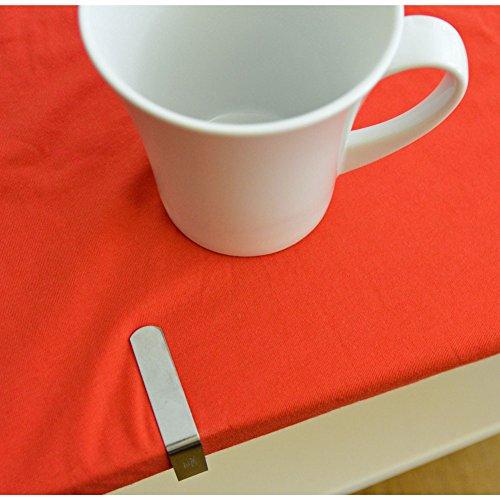 8 Stück Tischtuchklammern Edelstahl von all-around24