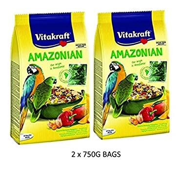 Vitakraft AMAZONIAN PARROT MACAW AND CONURE 750G BIRD CAGE FOOD SEED X 2PK by VITAKRAFT