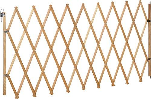 IB-Style® LIN XXL Absperrgitter für Hunde | Ziehharmoinka |Holz | Natur| 62-230 cm