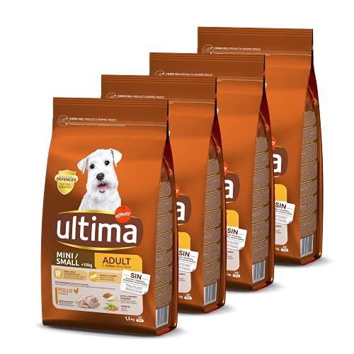 Ultima Pienso para Perros Mini con Pollo - Pack de 4 x 1.5 kg, Total: 6 kg