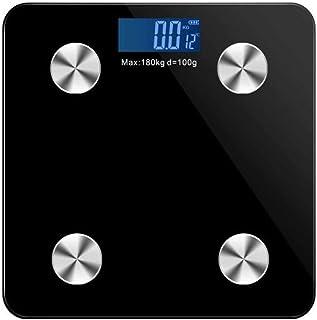 KLT Báscula de pesaje Báscula Inteligente Bluetooth Báscula de Peso Cuerpo Baño Báscula Electrónica LED Digital Peso Corporal Grasa de Agua Músculo Masa Bmi 180Kg Cocina
