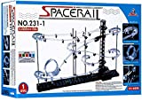 SpaceRail Glow in The Dark 6,500mm Rail, Roller Coaster Building Set, Marble Roller Coaster Kit with Steel Balls, Great Educational Toy for Boys and Girls, Level 1.2