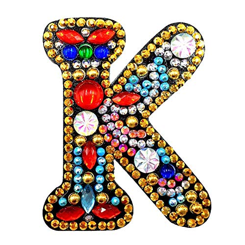 YIYIYA DIY Key Chain Diamond Painting Letters Women Girl Bag Keyring Pendant Gift