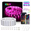 JESLED Bluetooth LED Light Strip, 65 ft Color Changing LED Strip Lights for Bedroom, Music Sync Smart RGB Neon Lights Strip with RF Remote, Rope Light for TV Home Kitchen Cabinet Party Decoration