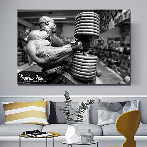 Pintura al óleo sin Marco 30x45cm Ronnie Coleman Culturista Arnold Pintura al óleo póster impresión Lienzo Cuadro de Pared para decoración del hogar