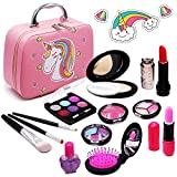 Senrokes Washable Makeup Unicorn Cosmetic Toy Girls Play Real Makeup Kit, Princess Unicorn Makeup for Girls / Toddlers, Safe & Non Toxic Beauty Set for 3 4 5 6 7 8 9 10 Year Old Girl Birthday Gifts.