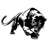 Cool Decal Stickers Fiery Wild Panther Hunting Car Body Decal,Vylymuses Auto Window Sticker Decal Motorcycle Decorations Car Rear Window Decals (Black)