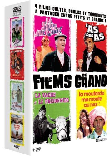 Mes films de grand - Coffret - La vache et le prisonnier + La soupe aux choux + L'as des as + La moutarde me monte au nez