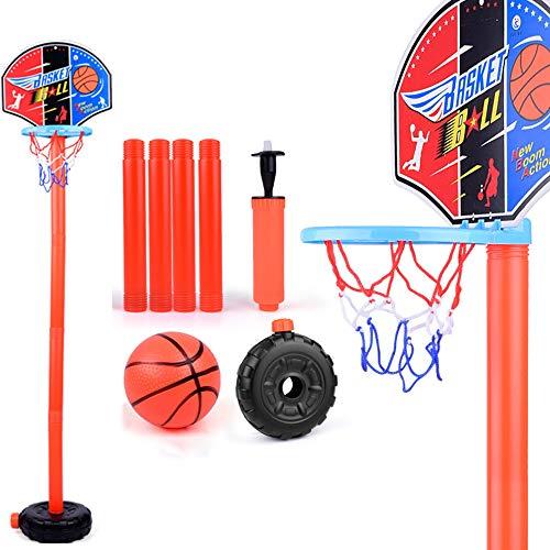 MYYINGELE Basketballkorbset Für Kinder, Höhenverstellbarer Basketballständer, Innen- Und Außenklappbare Tragbare Federung Free Punch Kunststoff-basketballbretter