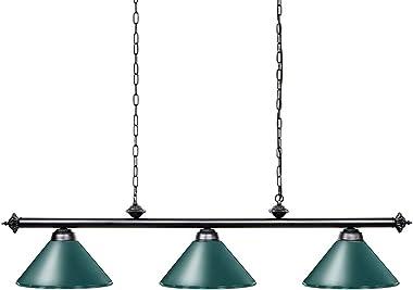 "Wellmet Pool Table Light, 59"" Hanging Billiard Lights, Adjustable Kitchen Island Lighting Fixture for Billiard Bar Table, Gre"