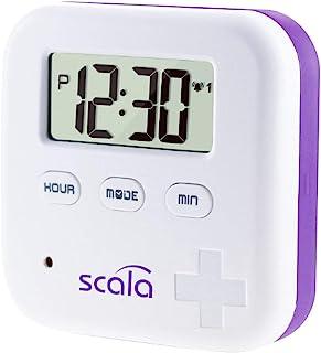 scala 20821 Pillenbox 4 vakken, 5 alarmtijden wit, 45 g