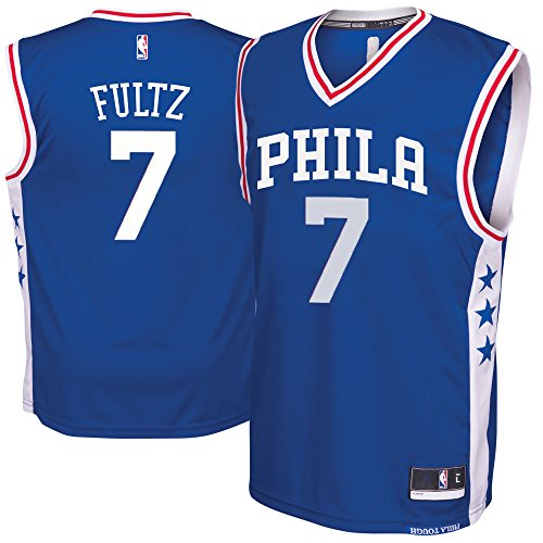 Outerstuff Markelle Fultz Philaelphia 76ers Blue #7 Youth Road Replica Jersey (X-Large 18/20)