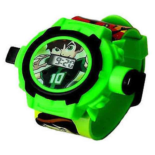 Ben 10 Digital Boys' & Girls' Watch (Green Colored Strap)