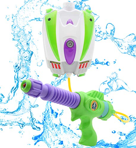 Disney Mochila Toy Story Y Buzz Lightyear con Lanzador De Agua | Pistola De Agua Portátil De Gran Capacidad con Correas Ajustables | Juguete para Niños A Partir De 3 Años De Edad