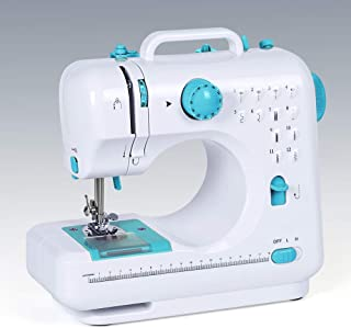 Household Sewing Machine Portable Mini Multi-Functional Electric Crafting Mending Machine with 12 Built-in Stitches 2 Spee...