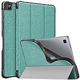 MoKo Hülle Kompatibel mit Samsung Galaxy Tab A7 10.4 Inch 2020 Model (SM-T500/505/507), Ultra Slim PU Leder Schutzhülle TPU Cover Auto Sleep/Wake up Standfunktion, Grün
