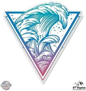 GT Graphics Surfers Wave - Vinyl Sticker Waterproof Decal