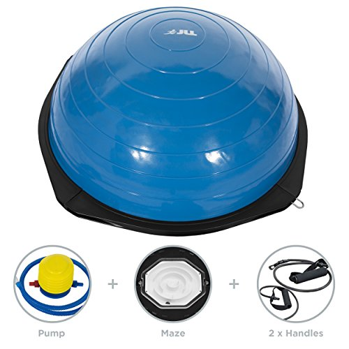 JLL-Maze-Balance-Trainer-Makes-Balance-Training-More-Fun-And-Challenging-Heavy-duty-suitable-for-Home-and-Gym-air-pump-and-resistance-bands-included-Available-in-Silver-or-Blue-Blue