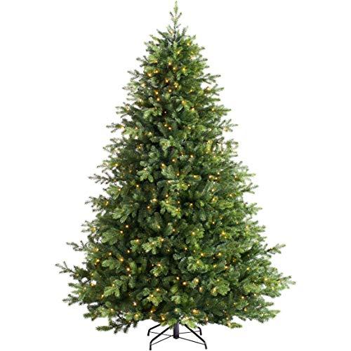 WeRChristmas Prelit Balsam Fir Christmas Tree with 800 Chasing Warm LED Lights, Multi-Colour, 8 feet/2.4m