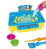 Brigamo Enten angeln Wasserspielzeug, Angelspiel, Kinderspiel für 2 Spieler -
