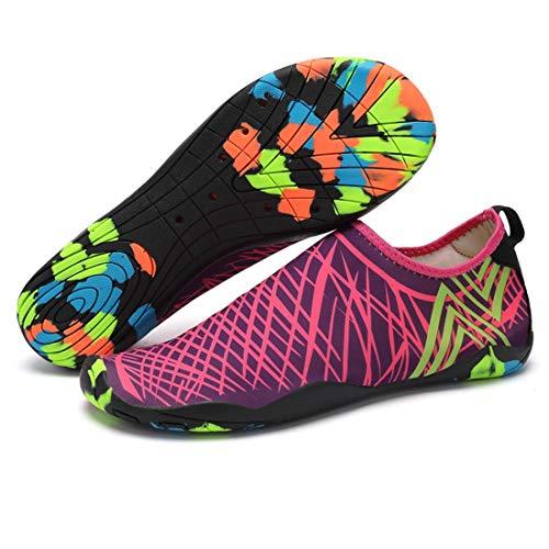 Sykooria Zapatos de baño Mujer Zapatos Aqua Zapatos de Neopreno versátil elástico elástico Transpirable versátil Flexible Surf conducción canotaje Unisex Camuflaje Trekking Zapatos 42