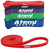 Exercise Bands for Working Out | 208cm Resistance Bands for Men or Women | Latex Resistance Loop and Free Workout Guide | Gym Elastic Band for Workouts, Calisthenics, Crossfit and Physiotherapy