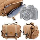 DURAGADGET Sac en Toile pour Canon EOS M5 / EOS 5D Mark IV, Hasselblad X1D, Leica Sofort, Olympus E-M1 II & E-PL8 appareils Photos et Leurs Accessoires - Couleur Sable