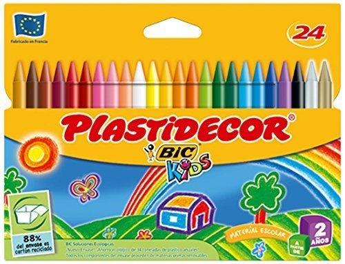 5x Estuches de 24 Ceras Plastidecor BiC Kids para colorear