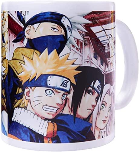 Anime taza de café de cerámica pantalla japonesa estética de dibujos animados mango de taza de té-Naruto