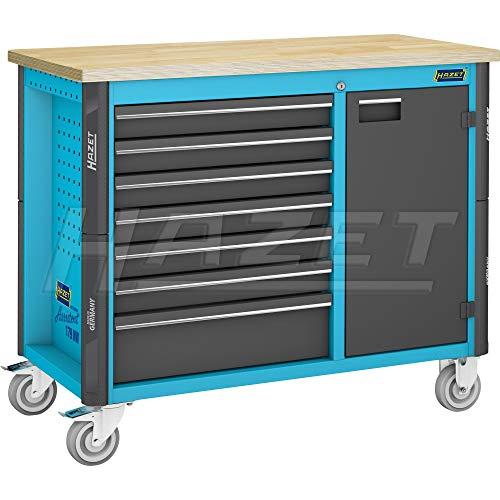 HAZET Werkbank, fahrbar (inkl. 9-fach verstellbaren Zwischenboden, fest montierte Tür) 179NW-7