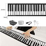 MSHK Rollpiano 88 Tasten Silikon Tragbares Klavier Digitales Musikinstrument Elektronische Soft Keyboard Klavier Mit Batterie USB