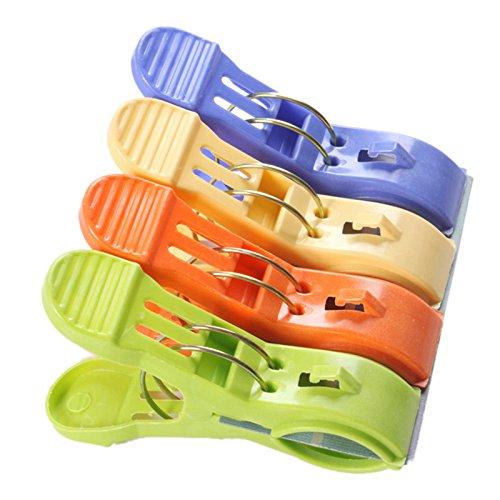 TOOGOO Kunststoff-Quilt Haengende Clips Klemm Halter Fuer Strandkorb oder Liegestuehle auf Ihrer Kreuzfahrt-halten Sie Ihr Handtuch vor dem Wegblasen, Waescheleinen (4 Stueck)