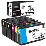ONINO Cartuchos de tinta 953XL para HP 953 XL Multipack de cartuchos de impresora compatibles con HP Officejet Pro 720 7730 7740 8210 8218 8715 8718 8725 8728 8730 8740 8710 8720 (5 unidades)