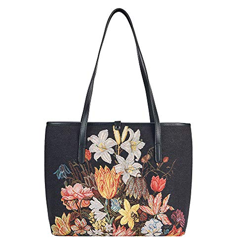 Signare Tapestry Bag per donne con fiori fermi licenza National Gallery London, (Natura morta), Taglia unica