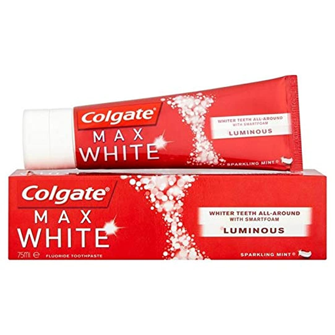 私達塊スティック[Colgate ] コルゲート最大白い光輝くミントホワイトニング歯磨き粉75ミリリットル - Colgate Max White Luminous Sparkling Mint Whitening Toothpaste 75ml [並行輸入品]