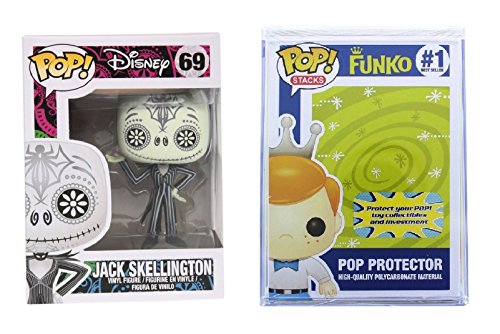 Funko POP: Disney: Pesadilla antes de Navidad: Jack Skellington Día de todos los Santos + caja protectora