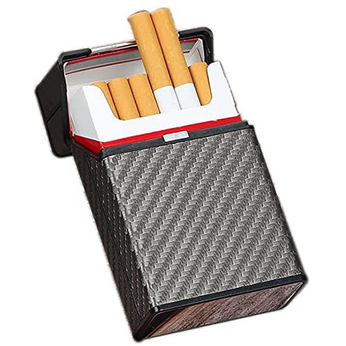 HQAA Paquete De Regalo 20 Palos De Cigarrillos Caso para Las Mujeres para Los Hombres Caso De Cigarrillos De Aluminio Durable Cigarrillos Portátil(Size:9.2 * 6 * 2.8cm)