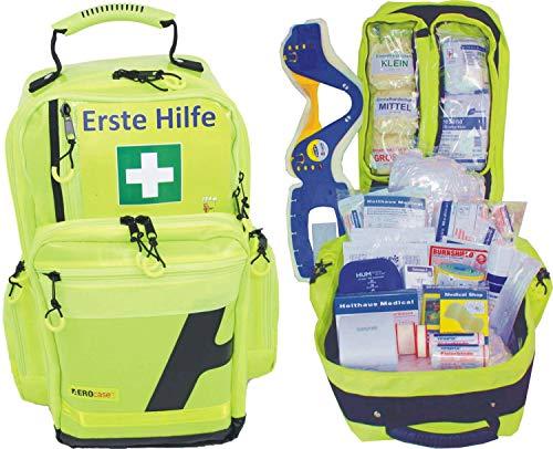 Erste Hilfe Notfallrucksack Sport, Sportvereine, Freizeit, Event & Freizeit - Gelbes Planenmaterial mit gelben Reflexstreifen