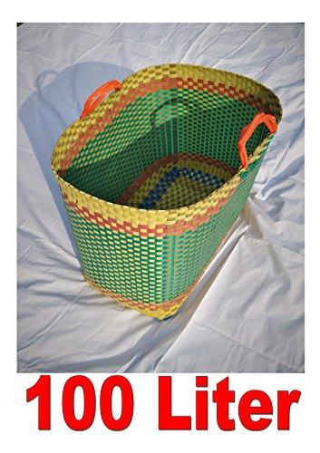Shop-of-Wonder Korb Unikat - Jumbo-Größe 100 Liter - Handarbeit - extrem stabil